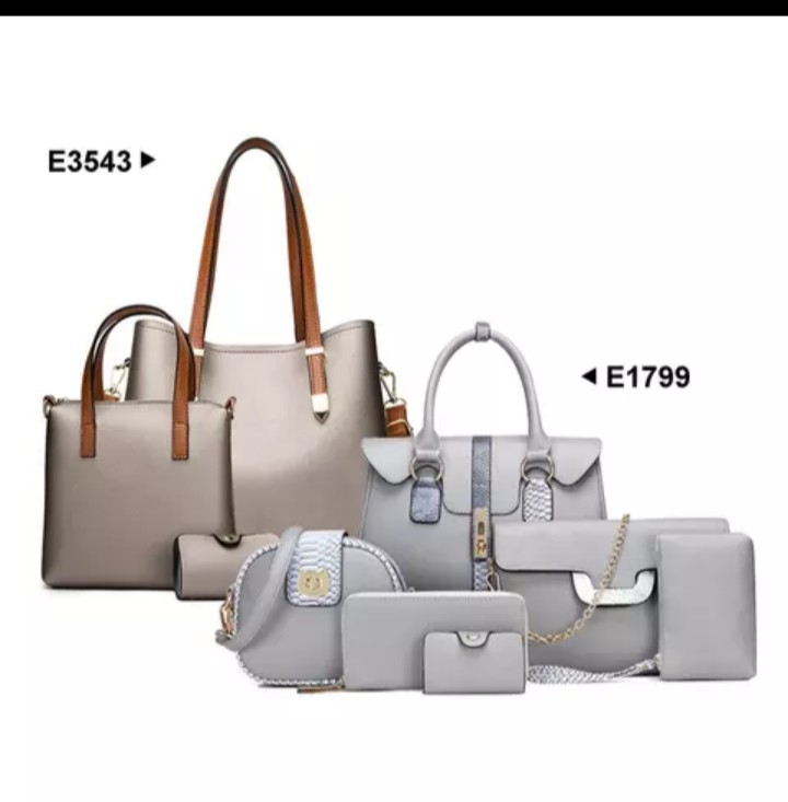 6 in 1 classical ladies leather bag