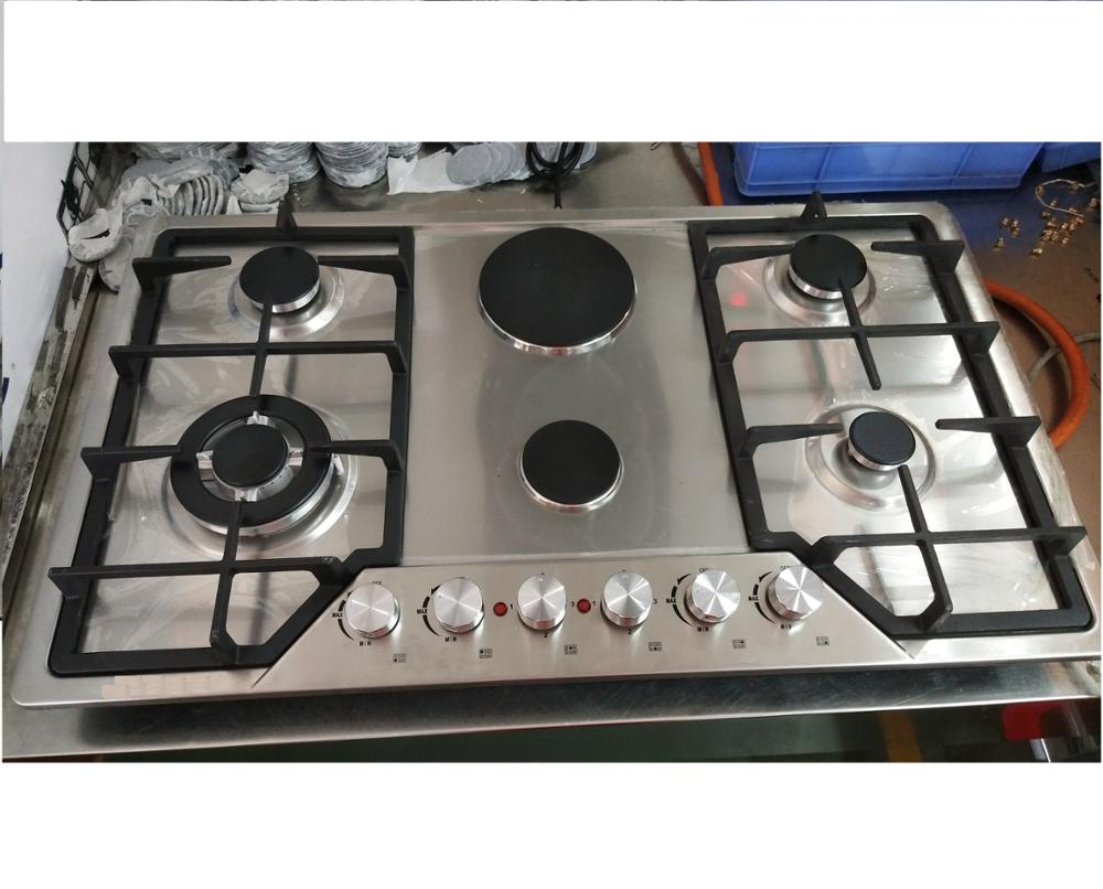6 burners stainless steel gas cooker hob/gas stove/gas cooktops