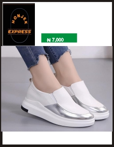 Hidden wedge sneaker assorted colors slip on shoes 2019