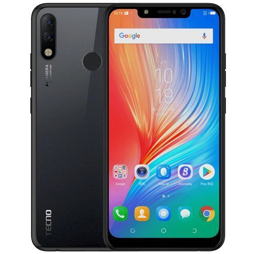 Tecno Spark 3 Pro (KB8) 6.2-Inch HD+ FullView (2GB, 32GB ROM) Android 9 Pie, (13MP+2MP)+8MP, Face & Fingerprint ID, 3500mAh Dual SIM 4G Smartphone - Midnight Black