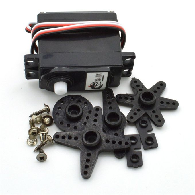 Servo 360 Degree Continuous Rotation MG995 Metal Gear For Arduino Black