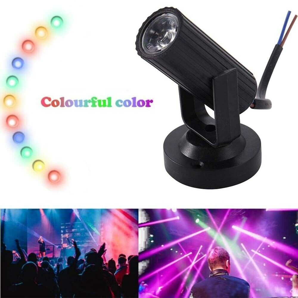 MINI LED Pinspot Beam Stage Spot Light Lamp Effect DJ Disco Party Club KTV RGB