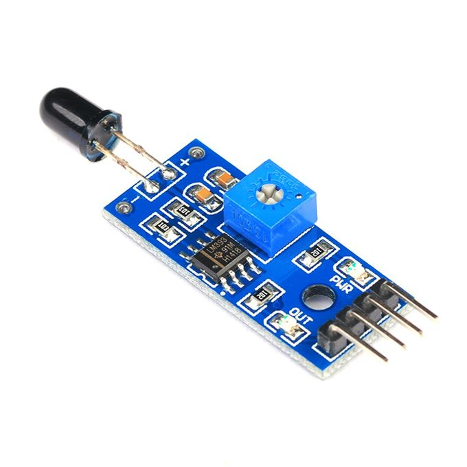 Flame Sensor Module Fire Detection Infrared Receive Blue