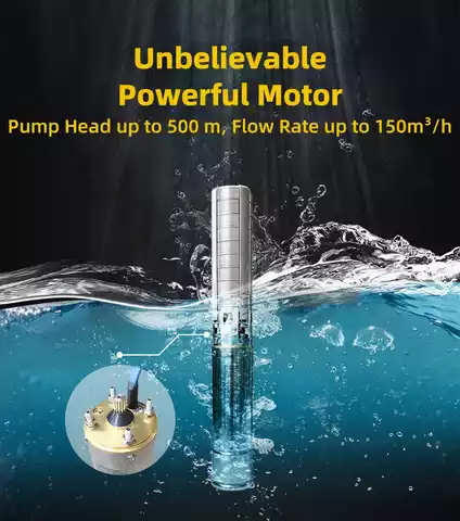 5.5Hp, 10Hp Solar Submersible Pump
