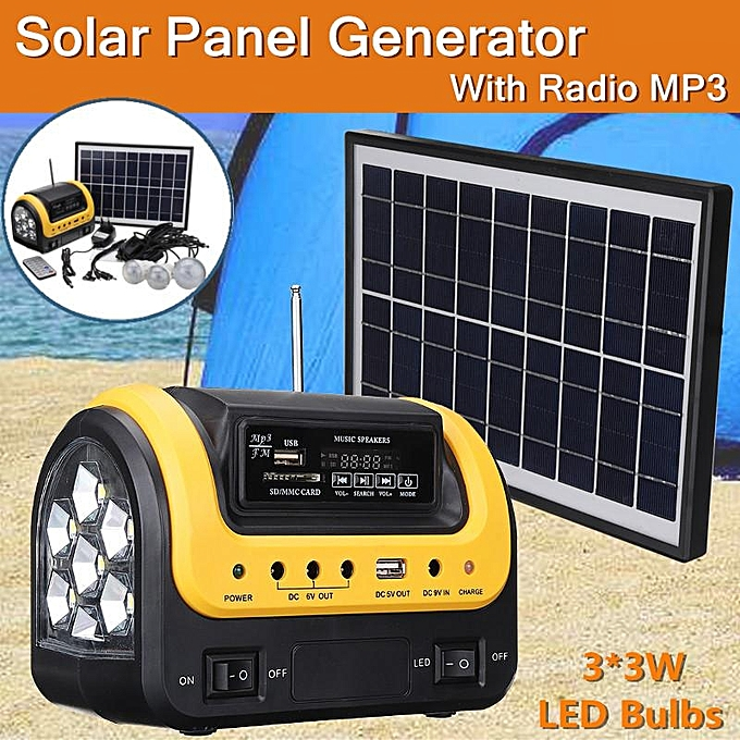 Solar System Home Generator  Power Supply