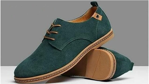 Forest Green Wide Fit Hand Made Shoe In stone