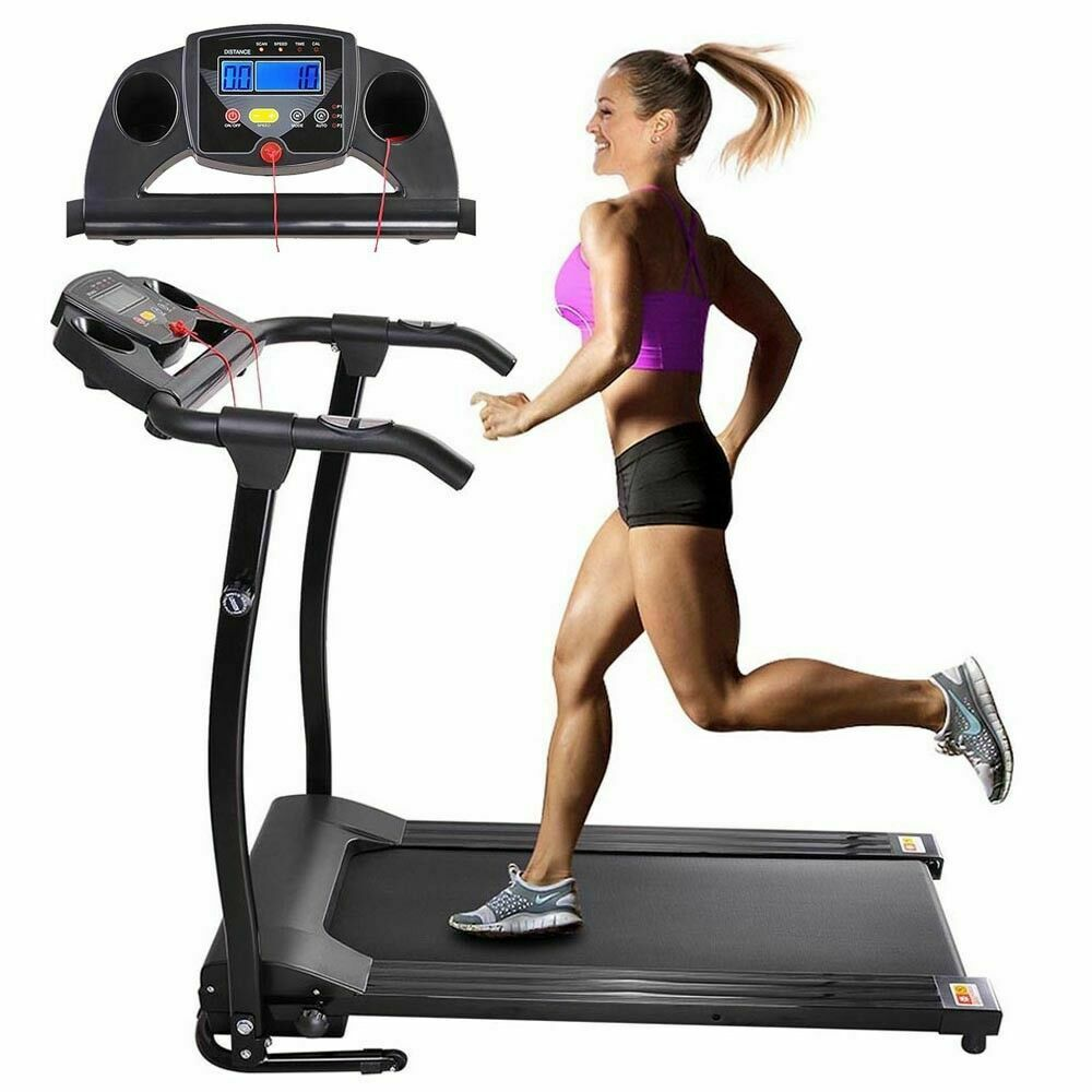 1100W Folding Electric Treadmill Portable Motorized Machine Running Gym Fitness