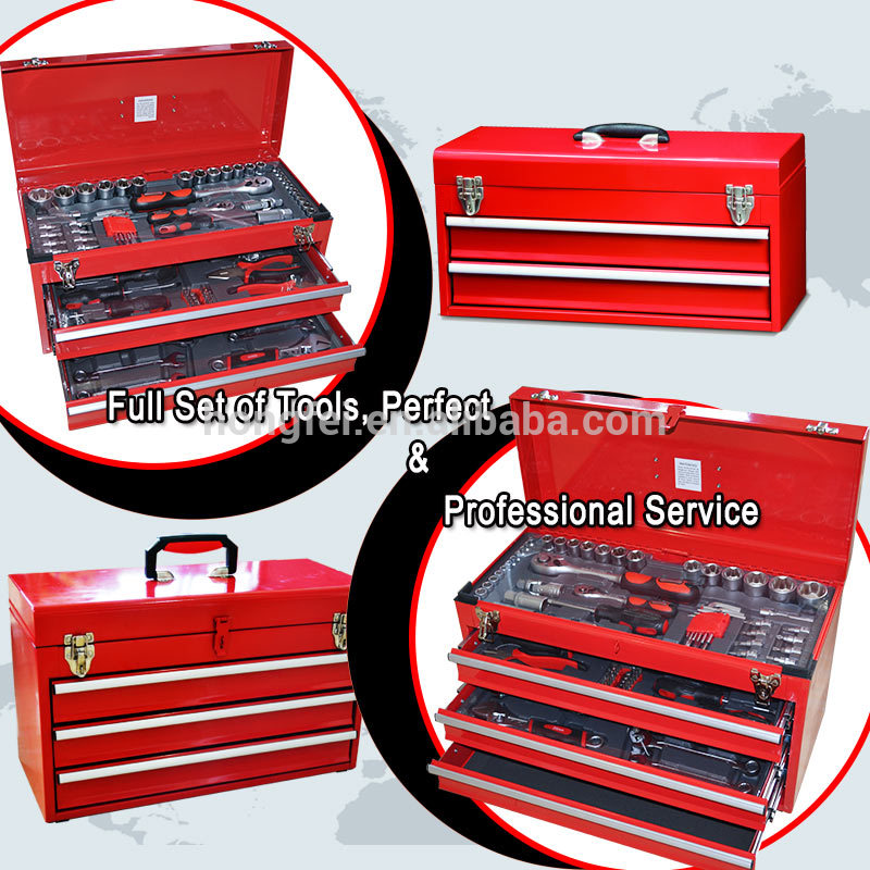 complete professional metal tool boxes with 3 drawer