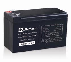 MERCURY UPS BATTERY 7.5AH, 12V