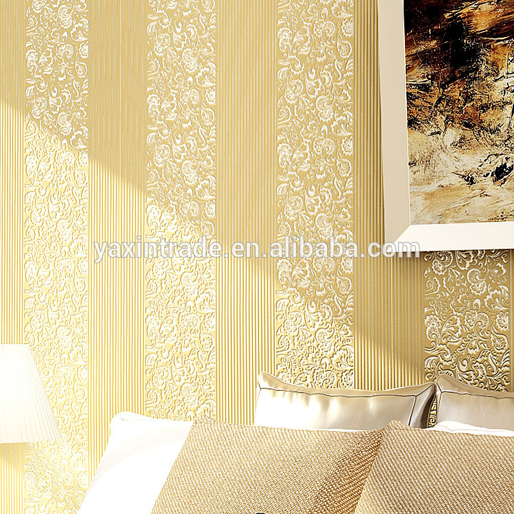 Striated flower wall wallpaper elegant decoration n 3D designs wallpaper