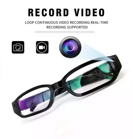 HD 1080P Hidden Spy Wireless Invisible Video Glasses CCTV Camera