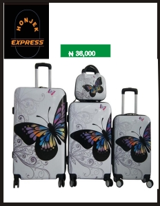 butterfly Custom Trolley Travel Hard Shell ABS Luggage
