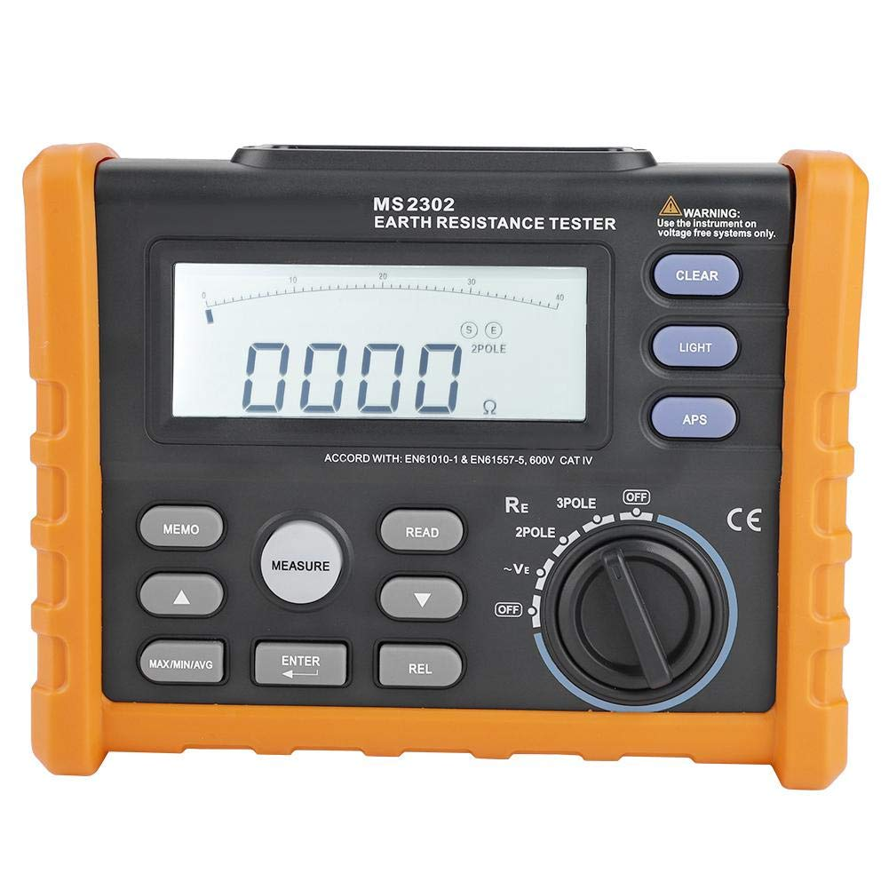 Digital Resistance Meter Ground Earth Tester