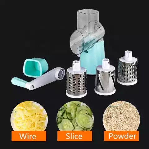 Rotary Round Slicer and Vegetables Grater Chopper