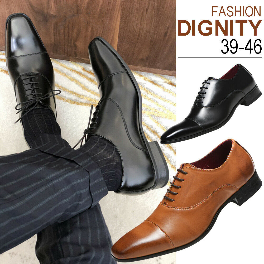 Men Formal Oxfords Leather Shoes Pointed Casual Business