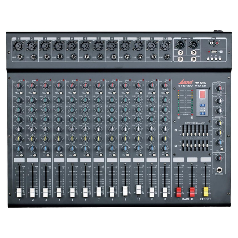 PMX-1202U Lane audio echo mixer amplifier for mosque sound system