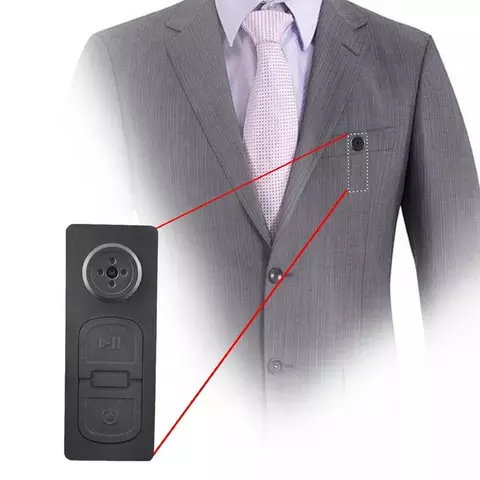 Mini Hidden Camera Security DVR Shirt Button Camera Video Recorder with Audio
