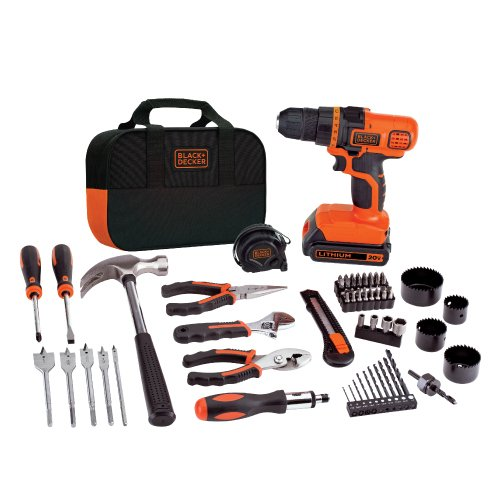 Honjek 20V MAX Drill & Home Tool Kit, 68 Piece (LDX120PK)