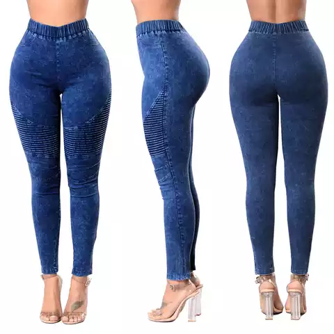 Women's High Waist Butt-Lifting Skinny Jeans Elastic Pencil Jeggings Pants Womens Hyper Ultra Stretch Comfy Skinny Pants