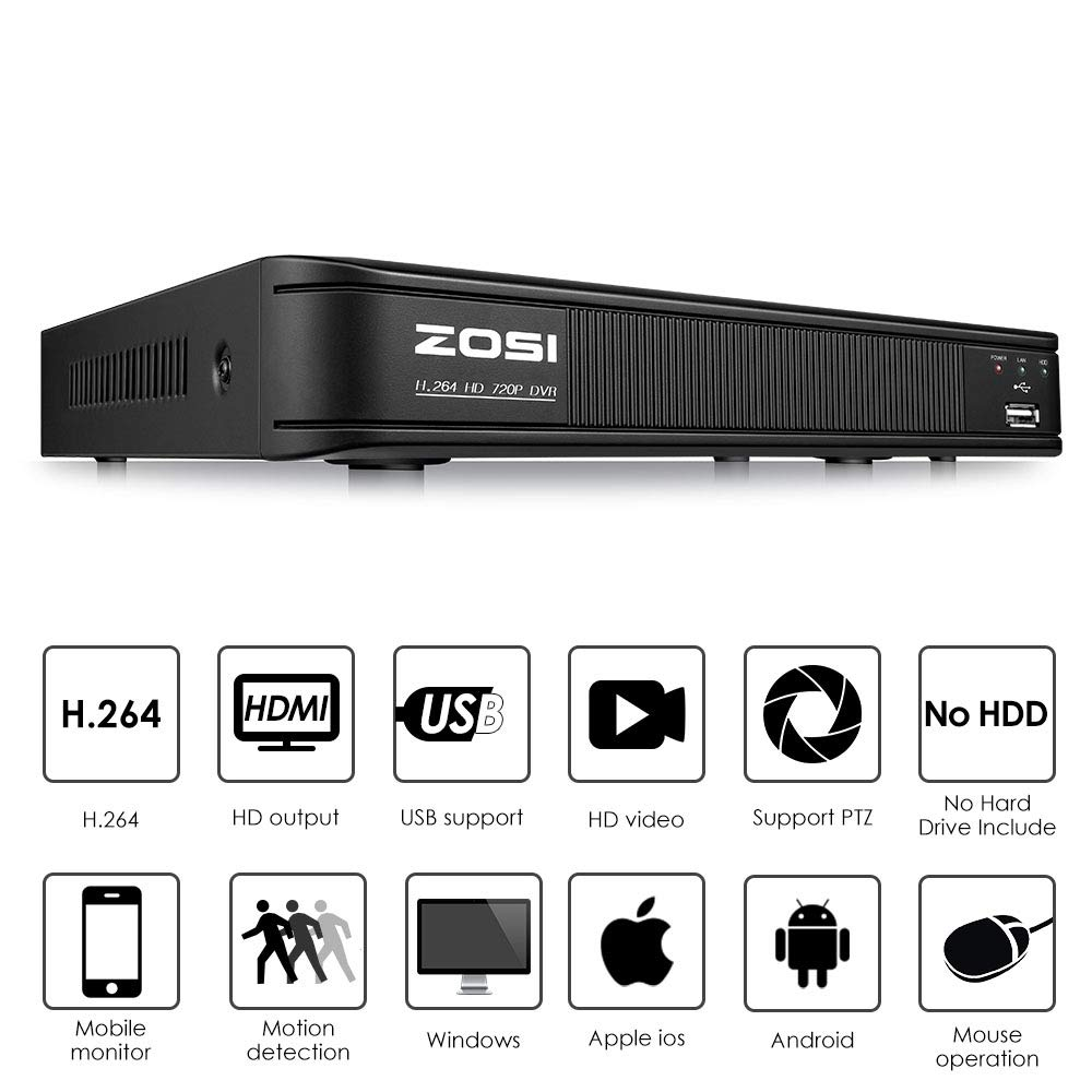 8-Channel Home Security Camera System,