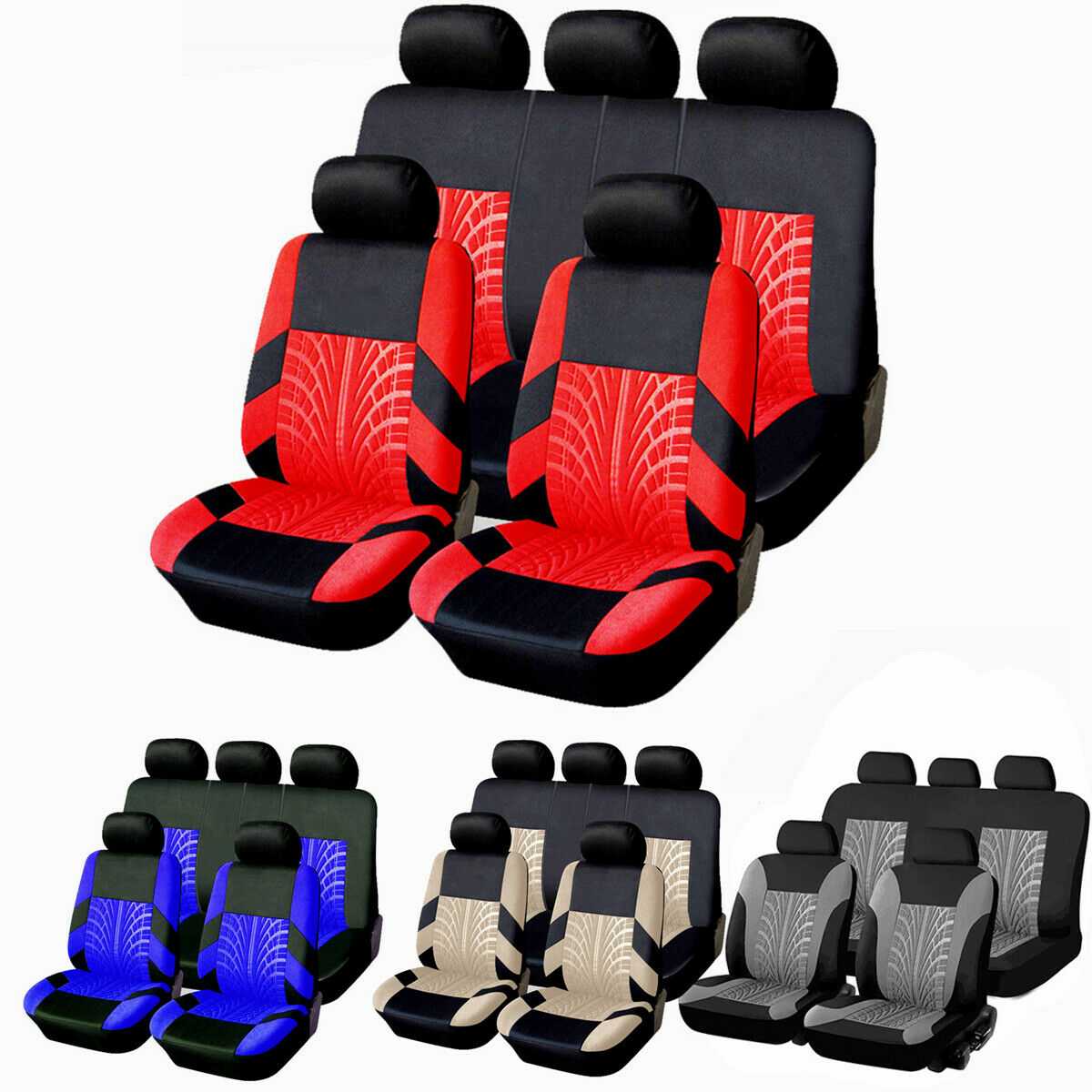 Universal Protectors Full Set Auto Seat Covers for Car Truck SUV Van 4 Colors