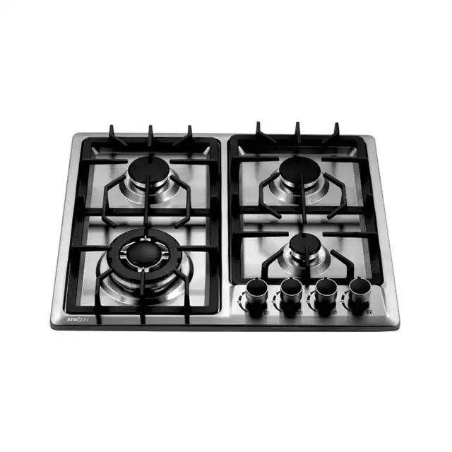 High Quality High-temperature Panel 3 Burners Table Top Gas Cooker Valve