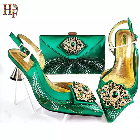 African Shoe Matching Clutch Set