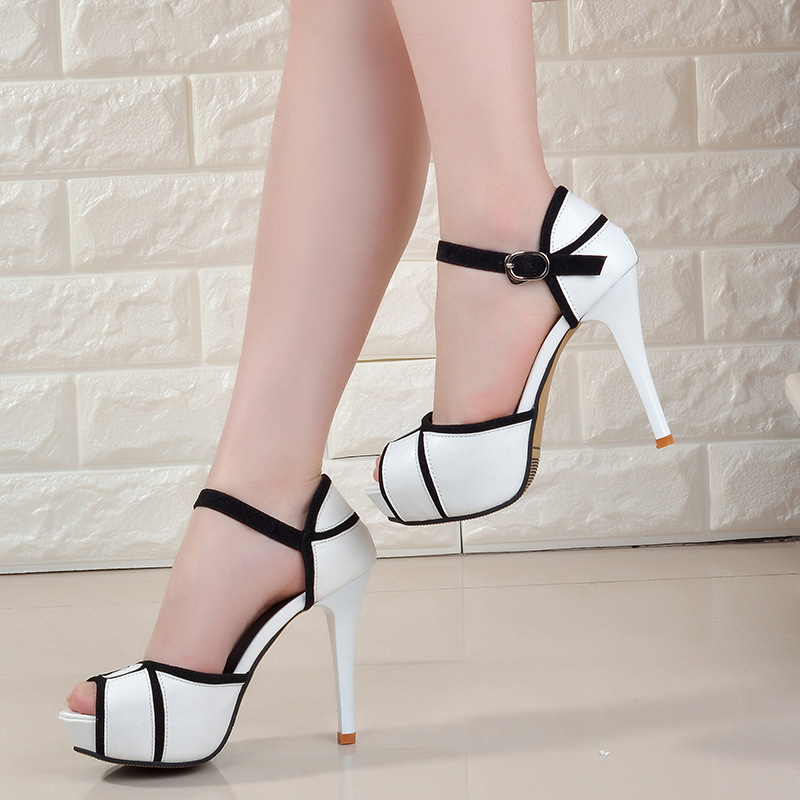 new women high heel shoes color matching summer shoe 2019 ladies