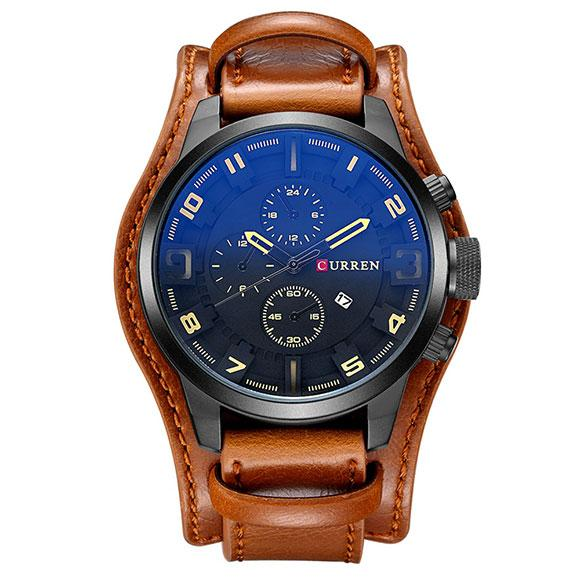 CURREN Watch Men Military Quartz Watch Mens Watches Top Brand Luxury Leather Sports