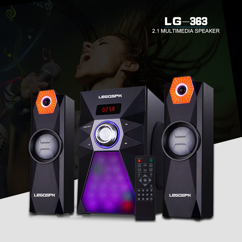 home speakers system with usb reader fm radio card reader