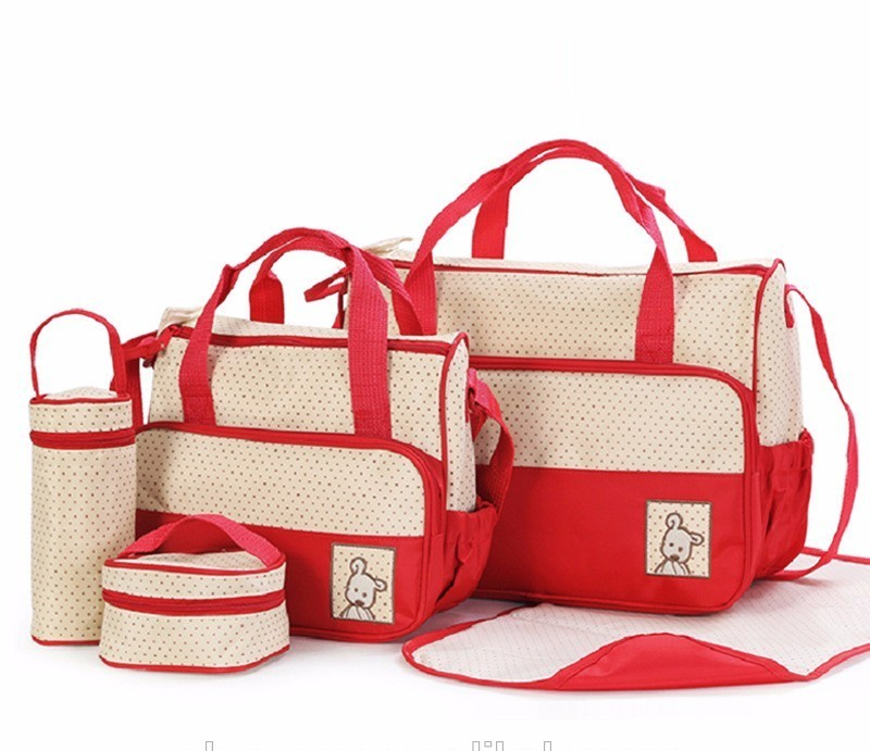 5pc Baby Changing Diaper Storage Bag / Mother Handbag / Baby Diaper Bags