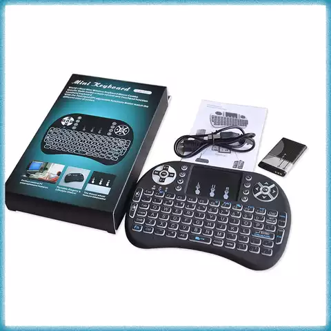 Russian Version 2.4GHz Wireless Keyboard Touchpad Mouse Handheld Remote Control For Android TV BOX Smart TV PC Notebook