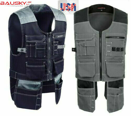 Tool Vest Technician Wear Work Pocket Electrician Carpenter Plumber Craftman Put