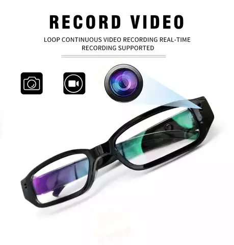 HD 1080P Mini Wireless Video Spy Hidden Camera Glasses