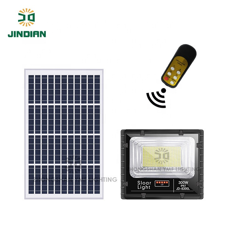 High Quality IP67 Led Solar Flood Light With Power Display 25W
