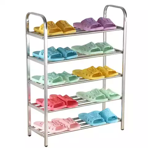 Simple Shoe Rack With Hand Rail