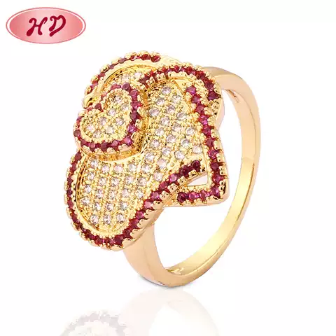 Fashion Design Turkish Gold Plated Wedding Rings Jewelry