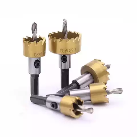 5Pcs HSS Hole Saw Cutter Set Stainless Steel Metal Alloy Drill Bit