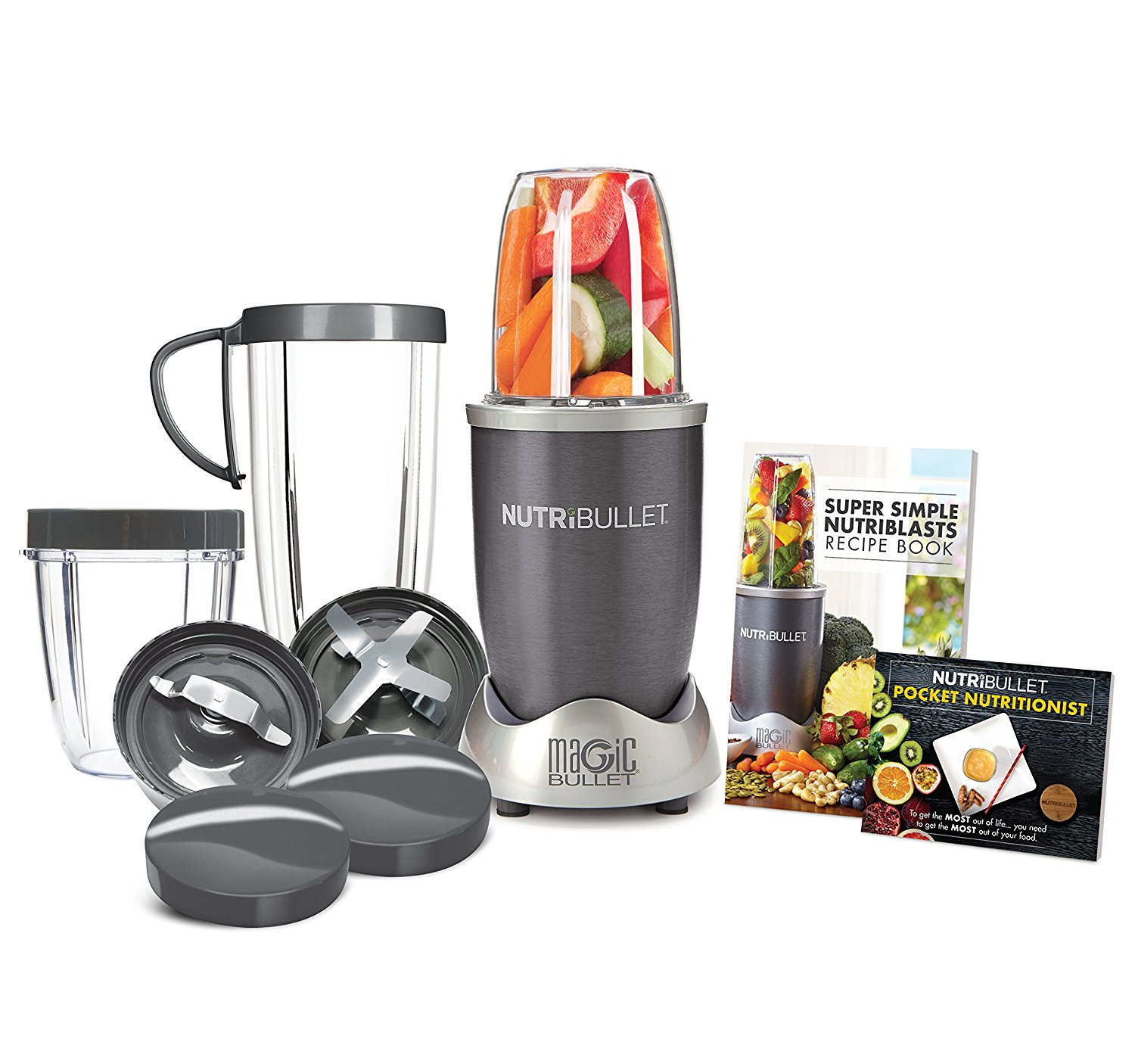 12-Piece High-Speed Blender/Mixer System, Gray (600 Watts)